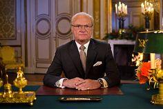 Kungens jultal spelades in i Prins Bertils våning på Kungliga slottet. Foto: Benjamin J. Sollner/SVT