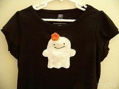 DIY Halloween t-shirts using scraps