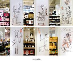 """illustrations ©Giriat pour la campagne """"backstage"""" de la Grande Epicerie de Paris"""
