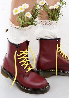 Dr. Martens Cherry Red 1460 8 Eye Boots ...fights, late nights runnin' from the…