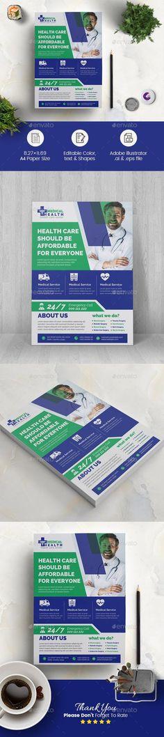 Medical Flyer #GraphicRiver #design #templates #flyer #BusinessFlyers #FlyerTemplate #business #PrintTemplates #sets #company #GraphicResource #DesignResources #CorporateFlyer #flyers #DesignSets #collection #PrintDesign #DesignCollection #graphic #graphicdesign Us Health, Health Care, Business Flyer Templates, Business Flyers, Fitness Flyer, Corporate Flyer, Corporate Business, Restaurant Flyer, Stress