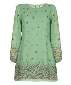 Another great find on #zulily! Mint Maglie Floral Shift Dress #zulilyfinds