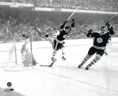 Bobby Orr of the Boston Bruins flies through the air after sliding the puck past goalie Glenn Hall and tripped by Noel Picard of the St. Louis Blues as Orr scored the game winning overtime goal. Get premium, high resolution news photos at Getty Images Sports Illustrated Kids, Official Nfl Football, Boston Bruins Hockey, Chicago Blackhawks, Bobby Orr, The Sporting Life, Nhl News, Stanley Cup Finals, Boston Sports