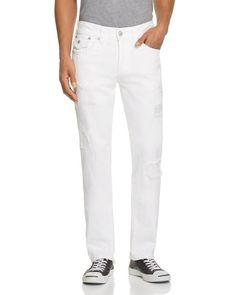 True Religion Geno Straight Fit Jeans in Optic Warrior