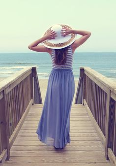 Kimi is dreamy in the Vineyard Vacation Hat and At the Helm Dress in Lavender. Click to shop the look! #stylegallery