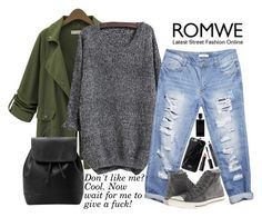 """""""knit Black Sweater- ROMWE: contest"""" by karolinaaa14 ❤ liked on Polyvore featuring Wet Seal, Converse, MANGO, Native Union, NARS Cosmetics, Agonist and Estée Lauder"""