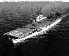 USS Tarawa was an Essex-class aircraft carrier that entered service in late 1945 and served through the Uss Tarawa, Essex Class, Uss Kearsarge, Royal Canadian Navy, Navy Aircraft Carrier, Naval History, Military History, Iwo Jima, Flight Deck