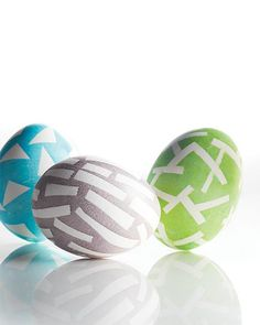 Resist Dyed Easter Eggs