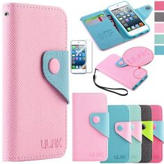 Pandamimi ULAK(TM) PU Leather Card Holder Wristlet Wallet Type Case Cover for Apple iPod Touch 5th Generation with Screen Protector (cleaning cloth with ULAK Logo) (Baby Pink & Blue) by ULAK, http://www.amazon.com/dp/B00E4IZPTU/ref=cm_sw_r_pi_dp_4prvsb1AGH4J6