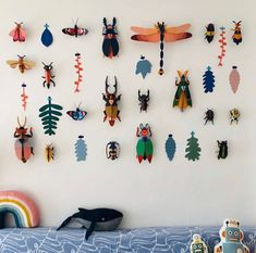 Diy And Crafts, Arts And Crafts, Paper Crafts, Diy For Kids, Crafts For Kids, Stationery Craft, Insect Art, Graphic Patterns, Decoration
