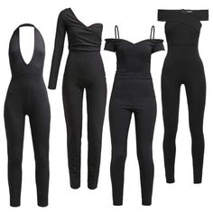 Black Jumpsuits #fashion #mode #kleider #look #outfit #style #stylaholic #sexy #dress