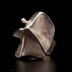 """Björn Weckström for Lapponia Jewelry ~""""Magma"""" Sterling Silver #Ring, 1969. 