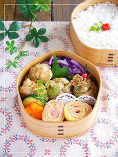 bento marinated in dressing. Japanese Bento Box, Japanese Food, Food N, Food And Drink, Veggie Food, Bento Box Lunch, Bento Lunchbox, Kawaii Bento, Asian Recipes