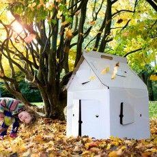 Casa Cabana  Maison en carton Blanche  l'avenir de l'immobilier : légèreté, mobilité, écologie...reste à trouver un matériau qui assure la sécurité ! la précarité inspirera t elle la construction éphémère et à la fois durable ?