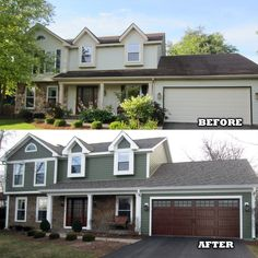 House Siding, House Paint Exterior, Exterior House Colors, Exterior Paint Design Ideas, Home Exterior Makeover, Exterior Remodel, Style At Home, Painting Vinyl Siding, Colonial House Exteriors