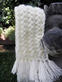 Crochet Hand-made Hairpin Lace Scarf - Use this pattern to make a fullsize or baby blanket