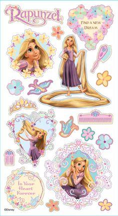 EK Success - Disney Collection - 3 Dimensional Puffy Stickers - Rapunzel at Scrapbook.com