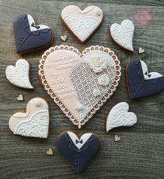 Svatební perníčky cookies wending