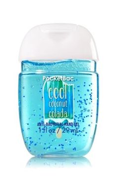 Cool Coconut Colada - PocketBac Sanitizing Hand Gel - Bath & Body Works - Now with more happy! NEW PocketBac is perfectly shaped for pockets & purses, making it easy to fight germs on-the-go! Plus, our all-new skin softening formula contains powerful germ-killers that keep your hands clean & soft.