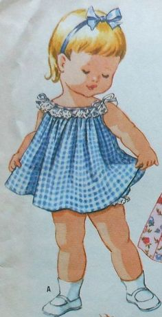 Vintage Toddler Dress Sewing Pattern Size 2 by latenightcoffee Kids Clothes Patterns, Childrens Sewing Patterns, Mccalls Sewing Patterns, Kids Patterns, Vintage Sewing Patterns, Vintage Kids Clothes, Vintage Girls Dresses, Vintage Children, Children Clothes