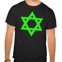 Green Star of David Tee by Wraithe Designs.