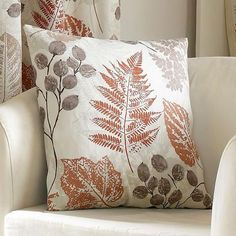 Rust New Forest Collection Square Cushion | Dunelm