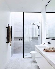 MINIMALIST.  #scandinavian #homedecor #interior #simplicity #bathroominspo