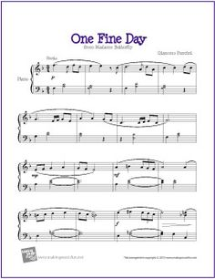 One Fine Day (Madame Butterfly) | Free Sheet Music for Piano (Scheduled via TrafficWonker.com)