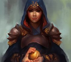Shao Jun holding one of the Appels of Eden. Drawing made by ApplePoo. Here's her Deviantart >> http://applepoo.deviantart.com/ #AssassinsCreed Chronicles