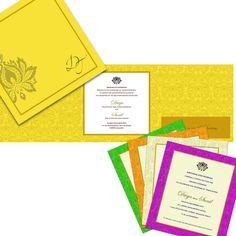 Wedding Invitation Card design by Frescoes Invitation Couture