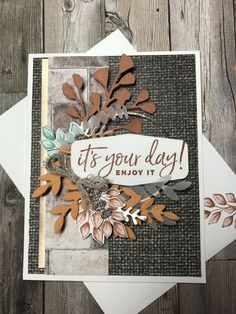 Masculine Birthday Cards, Birthday Cards For Men, Masculine Cards, Paper Cards, Men's Cards, Potpourri, Leaf Cards, Stamping Up Cards, Thanksgiving Cards