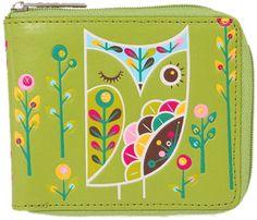 Gama-Go Pattern Owl Vegan Zip Wallet