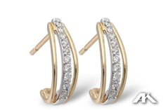 We love the modern design of these fabulous diamond earrings. www.melodysqualityjewelry.com