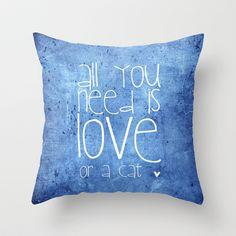 cat Throw Pillow by M✿nika  Strigel - $20.00