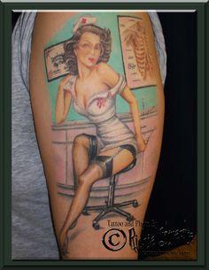 Nurse Pin Up Tattoo