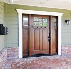 front doors for homes | Choose a front door stain or paint that compliments your exterior home