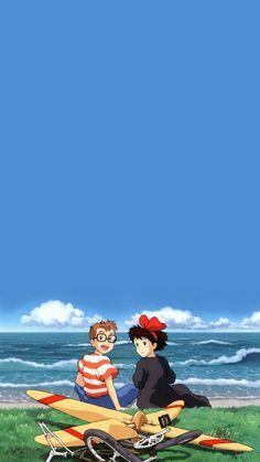 anime, blue, and studio ghibli image Studio Ghibli Poster, Studio Ghibli Art, Studio Ghibli Movies, Hayao Miyazaki, Nausicaa, Studio Ghibli Background, Studio Ghibli Spirited Away, Manga Anime One Piece, Japanese Drawings