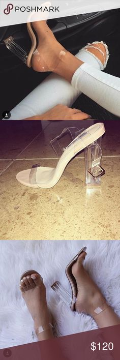 CLEAR Heels Clear strapped heels Shoes Heels