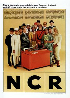 """(1964) NCR 321 – """"Now a computer can get data from England, Iceland and 98 others lands the instant it's recorded"""""""