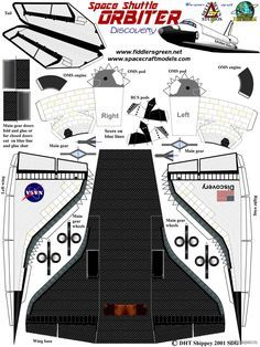 Челнок из бумаги, модели бумажные скачать бесплатно - Космос - Каталог моделей - «Только бумага»