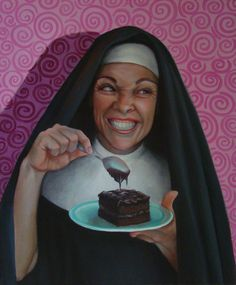 Christina Ramos Christina Ramos Sister Doris And The Devil's Food Wrapped Canvas Christina Ramos, Persona Feliz, Sister Act, Devils Food, Southwest Art, Byron Bay, Magazine Art, Figure Painting, Dory