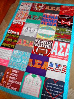 Sew Sorority t-shirt quilt @sewsorority