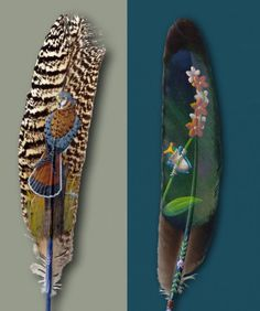 Paintings on Feathers