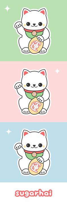Wonderful Cute White Maneki Neko T Shirts And More