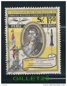 Peru Stamp - 100 birth Anniversary of Daniel Alcides Carrion Garcia 1857-1957