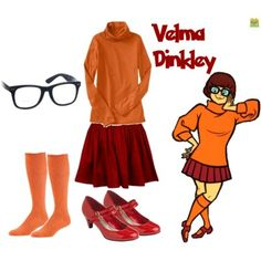 Velma Dinkley from Scooby-Doo... Thinking of dressing up as her!