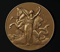 Greek mythological animal 'Hippocampus' by SelinaArt on Etsy, $65.00
