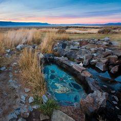 Summer Lake Hot Springs Southern Oregon Go for: Stargazing Photo:Tyler Roemer Oregon Road Trip, Oregon Travel, Travel Oklahoma, Ecola State Park, Spring Resort, Rock Pools, Going On Holiday, Oregon Coast, Travel Aesthetic