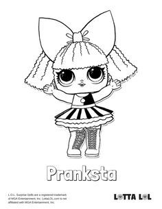 Pranksta Coloring Page Lotta Lol In 2020 Coloring Pages Lol Dolls Kids Printable Coloring Pages