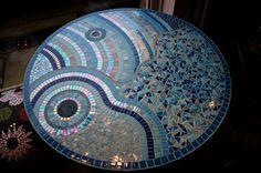 Mozaïek Tafel Gemaakt door Nathalie Boekestijn